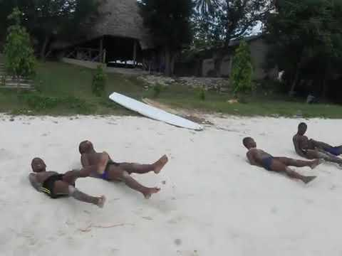 Tanzania marine Swimming Club Training