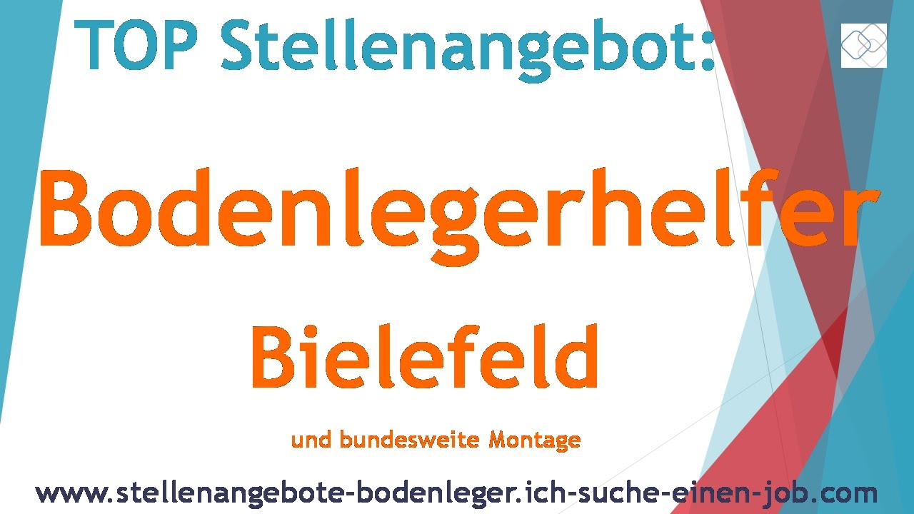 stellenangebot bodenlegerhelfer bielefeld youtube. Black Bedroom Furniture Sets. Home Design Ideas
