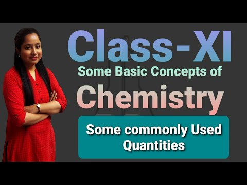 Class-XI Some Commonly Used Quantities