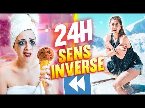 VIVRE PENDANT 24H EN SENS INVERSE - 24H CHALLENGE | DENYZEE