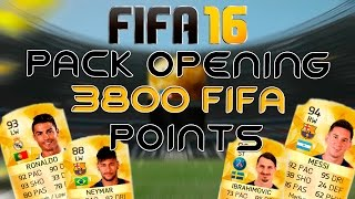FIFA 16 UT - PACK OPENING - 3800 FIFA POINTS :D