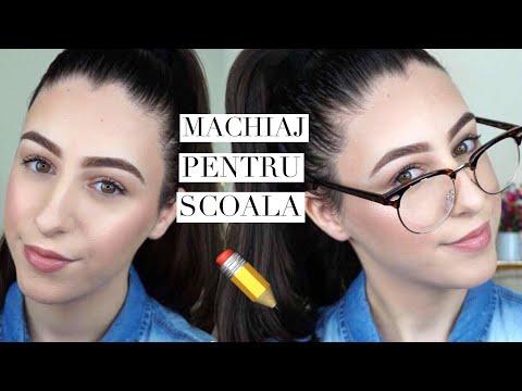 Machiaj de scoala cu produse accesibile 📚✏️ Alexandra Minghel