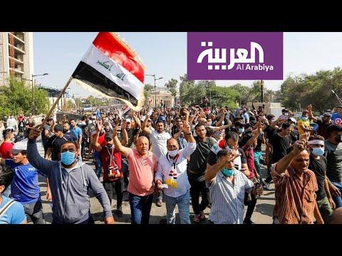 هتافات متظاهري كربلاء ضد ايران بعد فوز العراق  - نشر قبل 3 ساعة