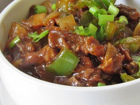 Chilli Beef Recipe - How To Make Restaurant Style Chilli Beef | Nisa Homey