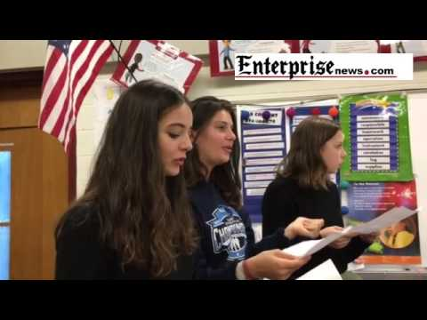 Exchange students from Lyon, France visit West Bridgewater schools.