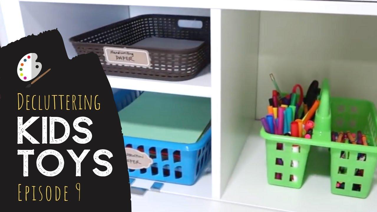 Organizing Decluttering Kids Art Supplies Simplify Toys