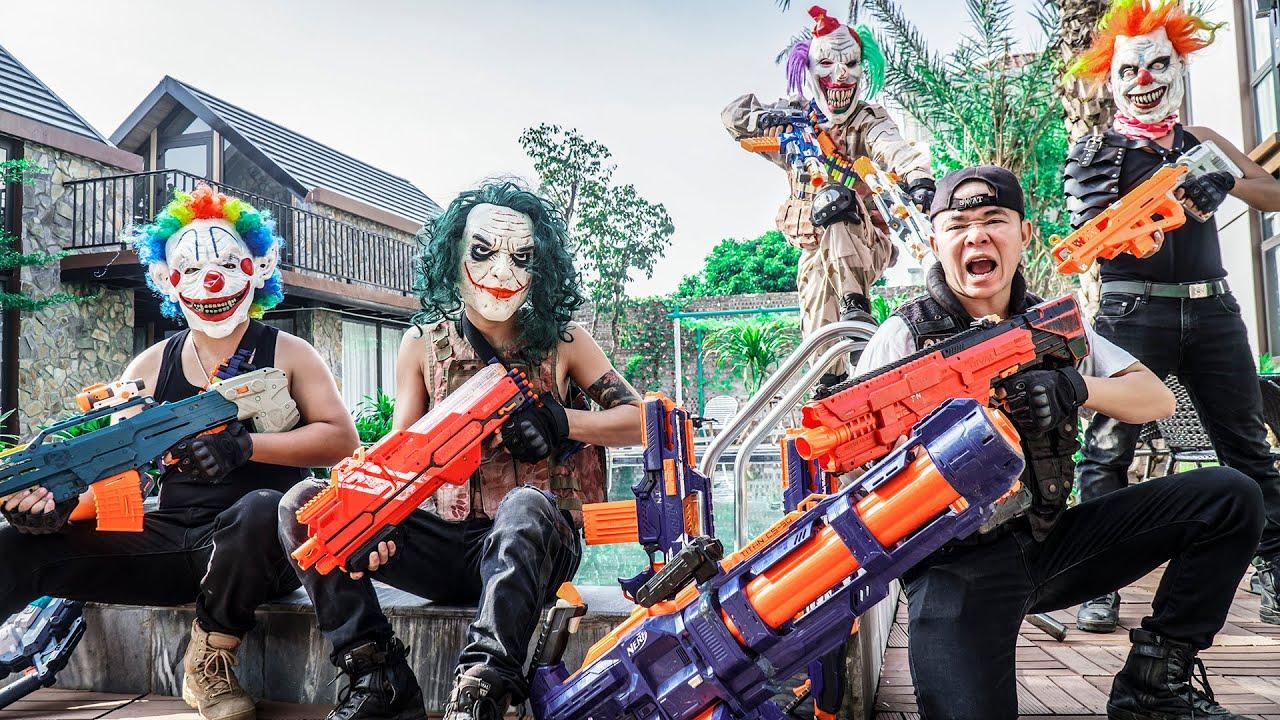 MASK Nerf War : CRIME CITY Warriors Alpha Nerf Guns Fight Dr.Zero Cross Fire Destroyer