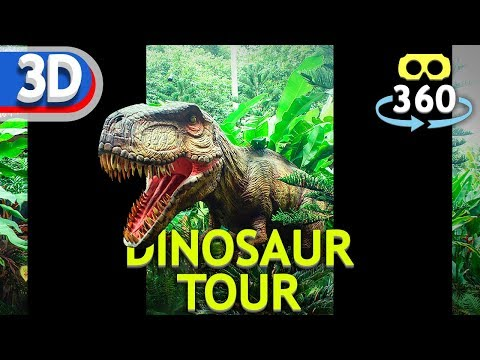 Dinosaur Tour #VR180 #stereoscopic #3D 4K #VirtualReality #VR #180Video