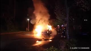 09.09.2019 - Bil sat i brand ved Ishøj