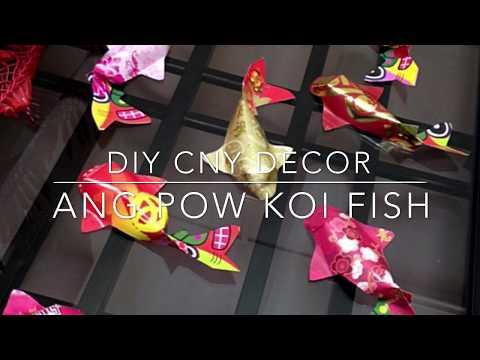 賀年摺紙| DIY Chinese New Year Decor : 3D Ang Pow KOI Fish