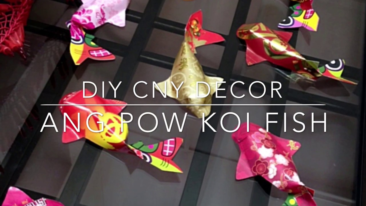 賀年摺紙 Diy Chinese New Year Decor 3d Ang Pow Koi Fish