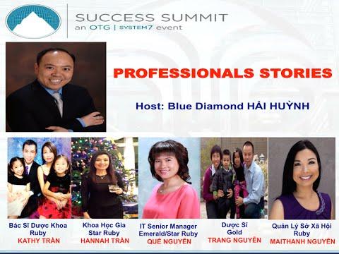 Phỏng vấn những người Professionals thành công với Nu Skin - Host: Blue Diamond Hải Huỳnh