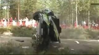 Mikko Hirvonen Crash Rally Finland 2010