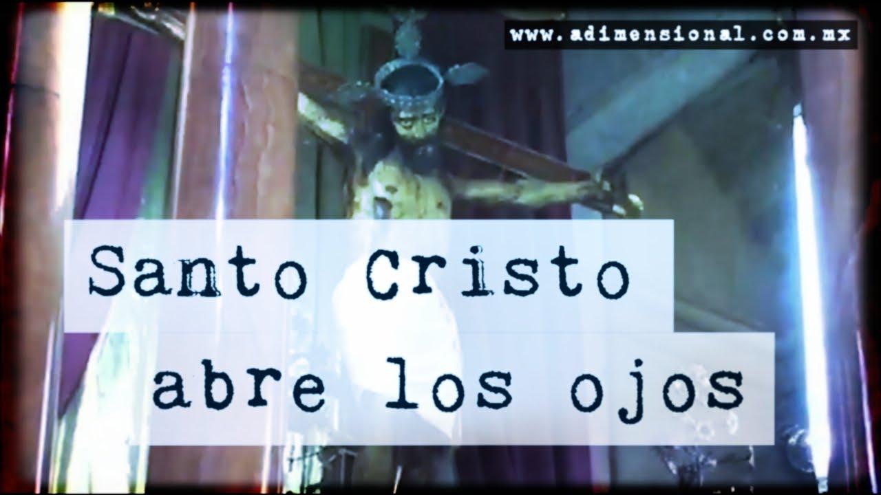 """目を瞑っているはずのキリスト教の像が""""ギロッ""""と目を開く瞬間が撮影される話題の動画。"""