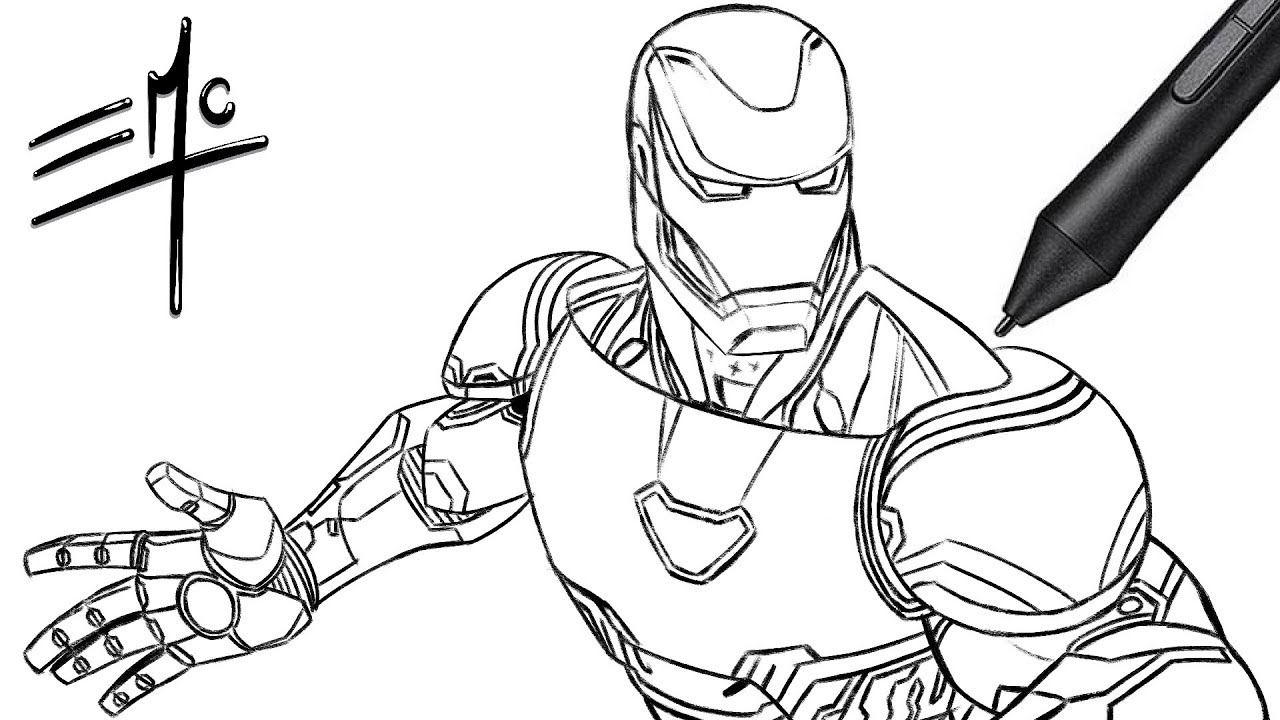 How to Draw Ironman from Avengers