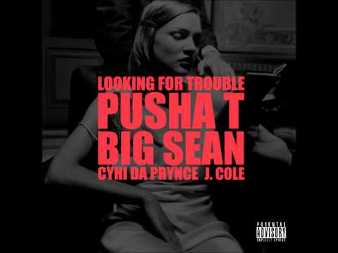 Kanye West ft. Pusha T Big Sean Cyhi Da Prynce J. Cole - Looking For Trouble HQ Download Lyrics