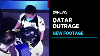 Video emerges of the moments after a newborn baby is found in Doha airport | ABC News