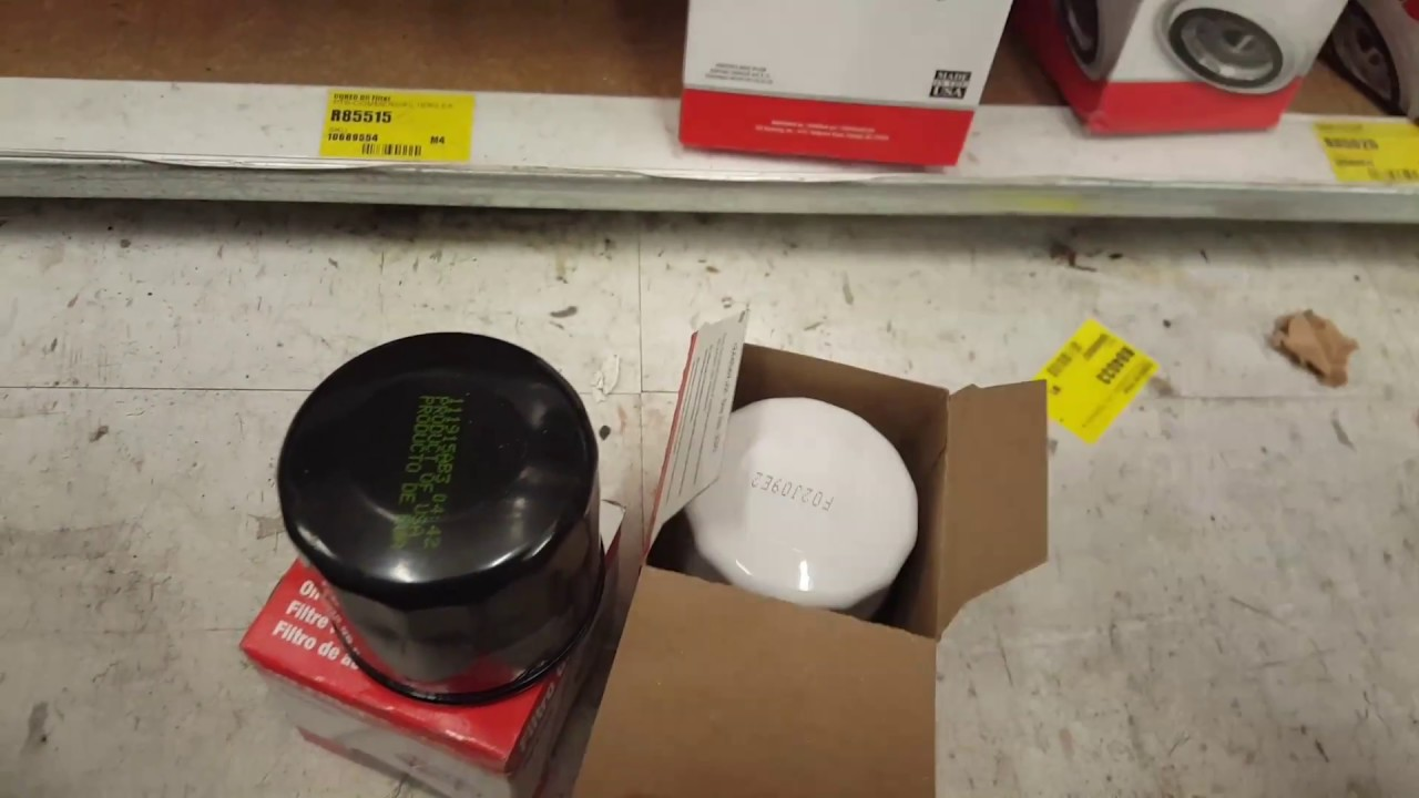 Carquest R85358 Oil Filter Old Versus New Youtube