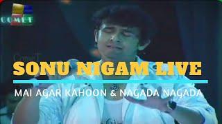 Mai Agar Kahoon & Nagada Nagada | Sonu Nigam Live | Shahrukh Khan, Shahid Kapoor | Film Award 2009