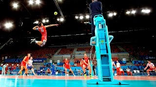 TOP 10 Monsters of the Vertical Jump | Volleyball (HD)