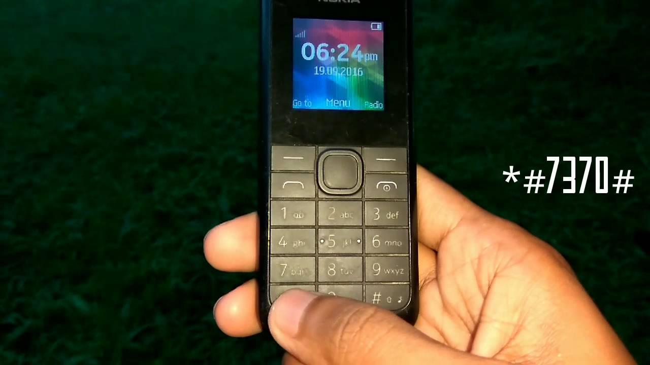 How To Reset Nokia 105 Rm - 1134
