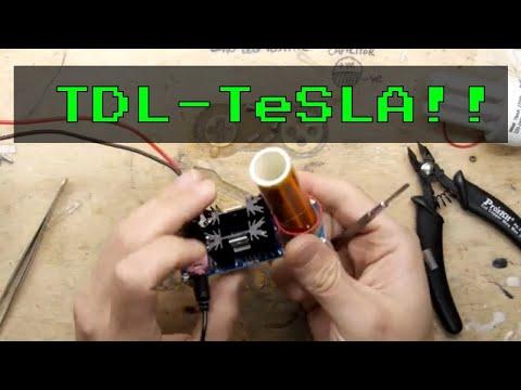 TDL - 15W Mini Tesla Coil Plasma Electric Arc Reactor