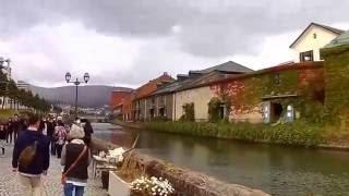 小樽運河!浅草橋から北海製缶側へ自転車で走行してみた!