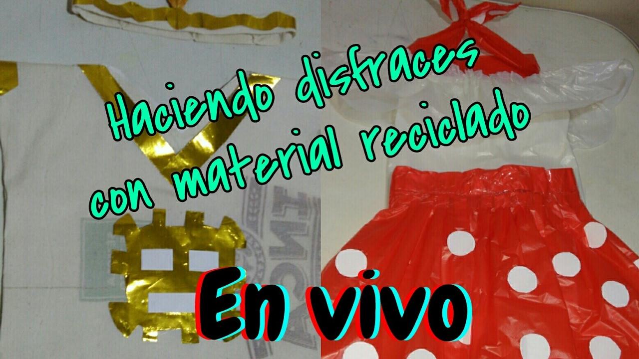 Haciendo un disfraz de festejo y de Inca con material reciclado parte 1 - YouTube