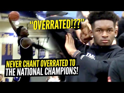 "They Chanted ""OVERRATED"" To IMG Academy Then REGRETTED IT! DON'T TEST The NATIONAL CHAMPS!!"