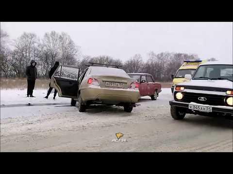 """""""Буханку"""" вынесло на встречку под Новосибирском"""