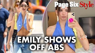 Emily Ratajkowski's crop top is a wardrobe malfunction waiting to happen | Page Six Celebrity News