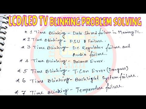 LCD LED TV blinking problem solving tips