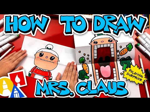 How To Draw Crazy Veggie Mrs Claus Puppet - Folding Surprise
