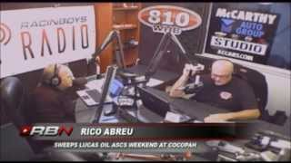 Rico Abreu joins Scott Traylor and Kirk Elliott on Track Talk March 8th.