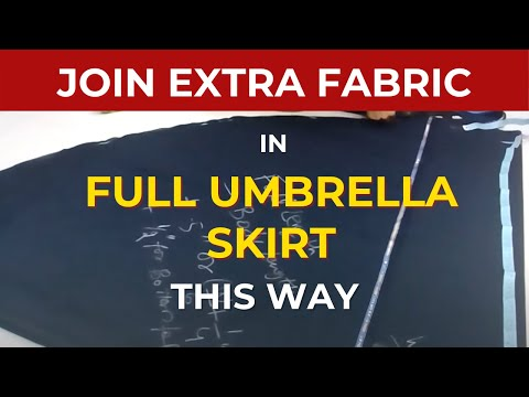 541dcfbf7f6d22 Make Umbrella Skirt   Umbrella Skirt cutting pattern video Circular Maxi  skirt anarkali Dress Frock2 - YouTube