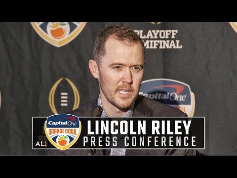 What Lincoln Riley said before Oklahoma's game against Alabama