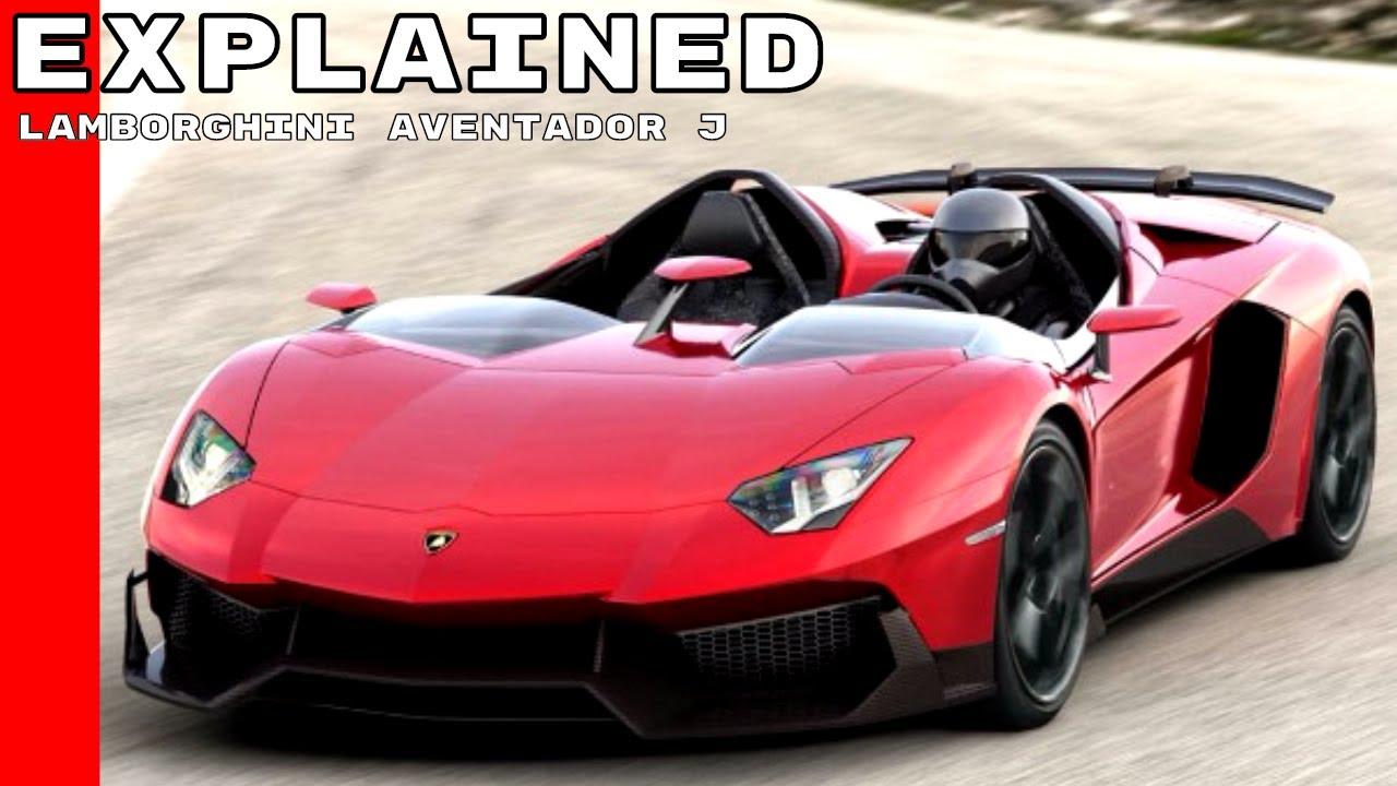 Lamborghini Aventador J Explained Youtube