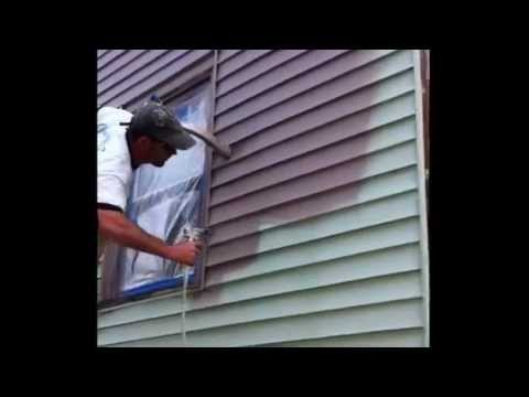 Painting vinyl siding ugly green house youtube - How to clean house exterior before painting ...
