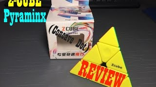 z cube concave dot pyraminx   review