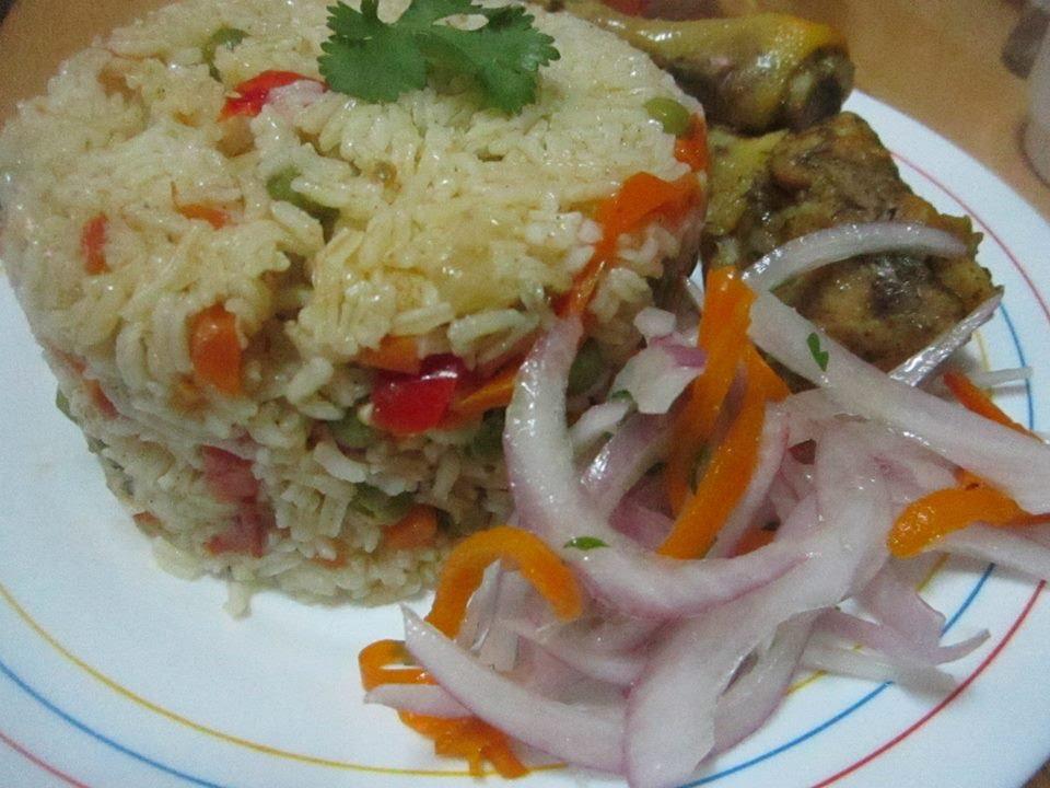 arroz con pollo comida peruana mas facil de hacer n 1