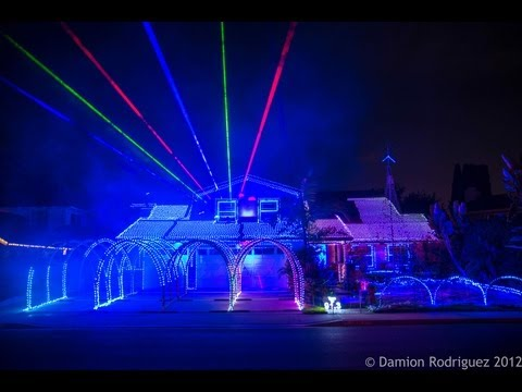 Gangnam Style Christmas - Fountain Valley Christmas Lights 2012 by DeversDreamWeavers