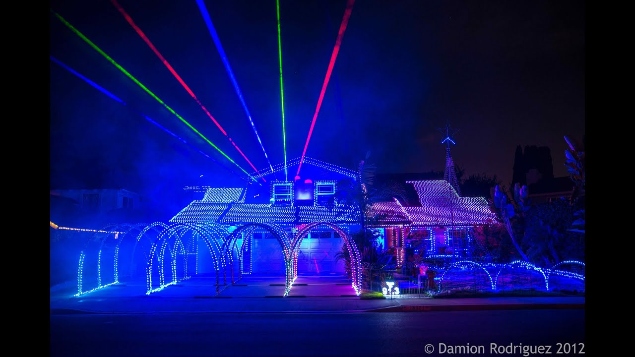 Gangnam Style Christmas Fountain Valley Christmas Lights 2012 By Deversdreamweavers Youtube