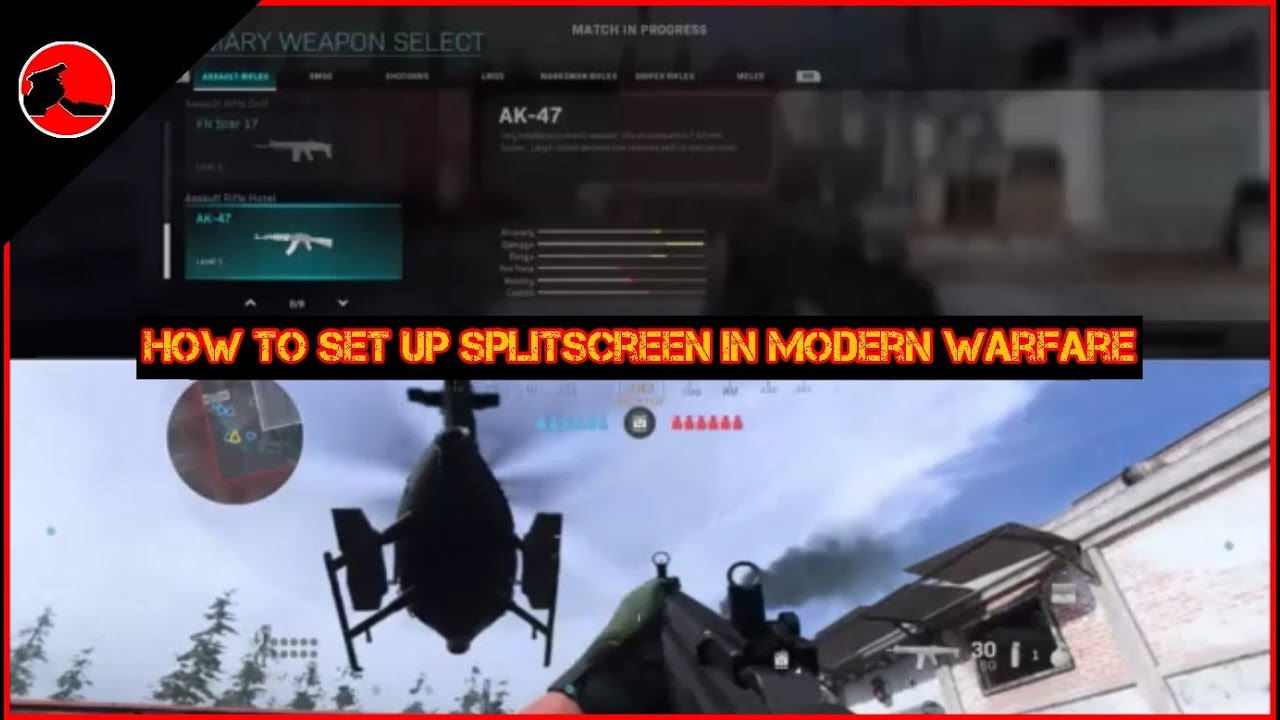 How To Set Up Splitscreen In Call Of Duty Modern Warfare Youtube