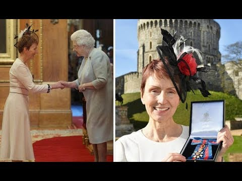 The Queen honours Britain's first astronaut Helen Sharman at Windsor Castle