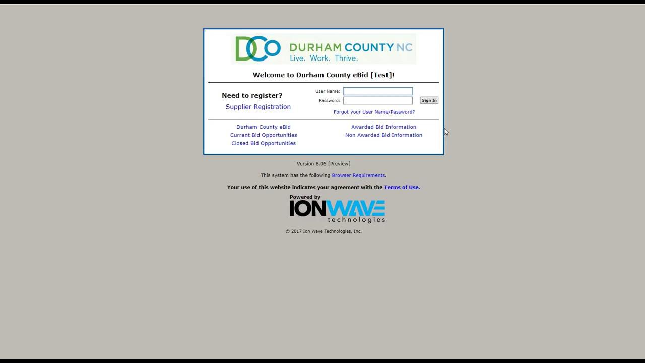 Bid Opportunities | Durham County