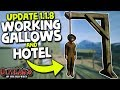 WORKING GALLOWS & HOTEL (UPDATE 1.1.8) | Outlaws of the Old West (2019 Early Access Update 1.1.8)