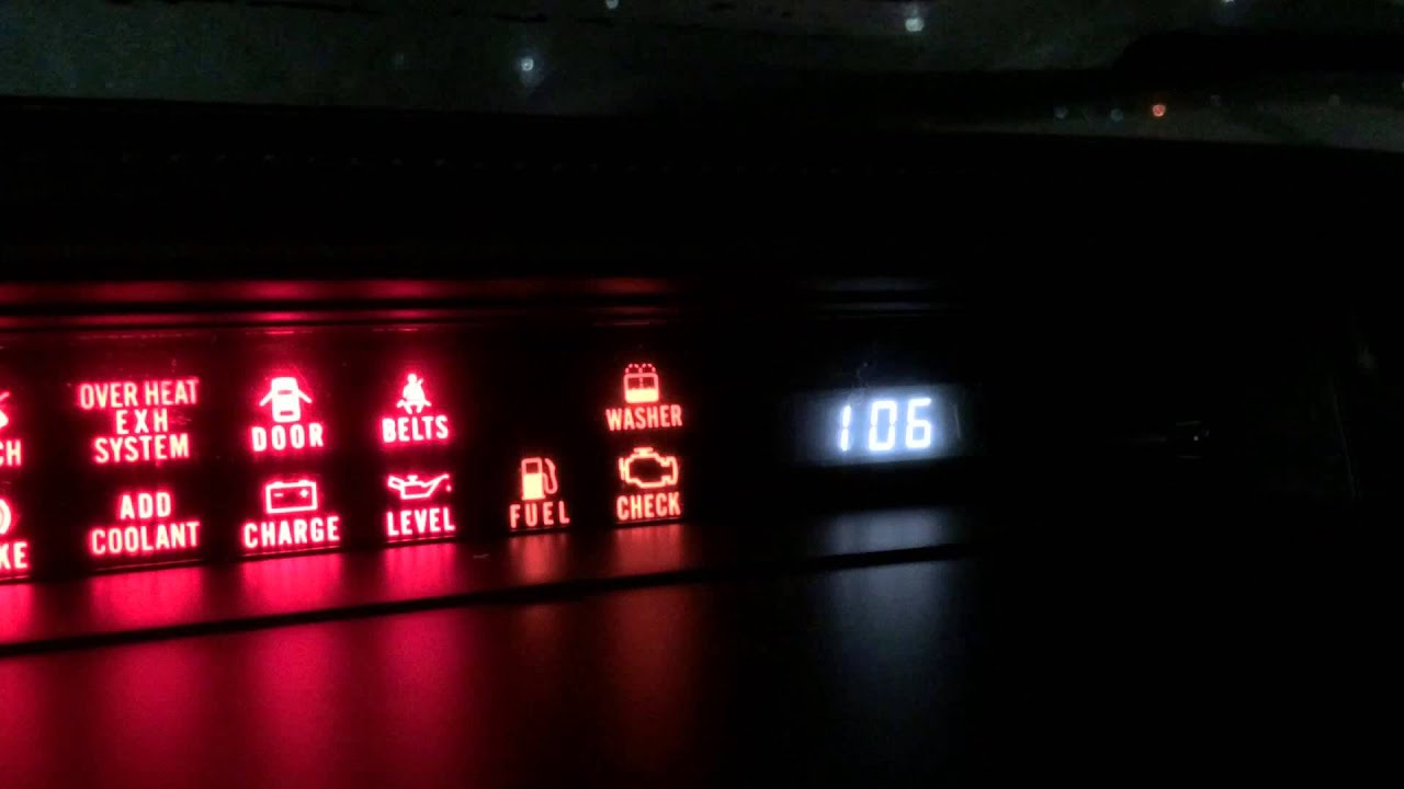 FC3S S5 RX 7 GXL Check Engine Light Codes