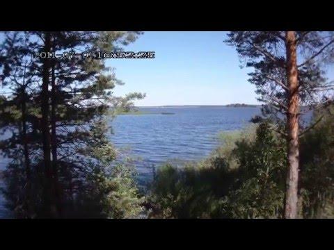 Рыбинское водохранилище . Отдых в палатках на берегу
