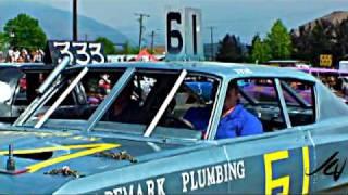 Group 'B' cars exit - Salmon Arm Demoliton Derby 2009