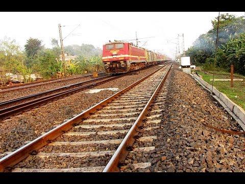 110kph track sound-LHB Howrah Mumbai superfast  speed show